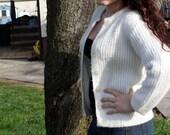 1960s White Orlon Sweater- Joyce Lane