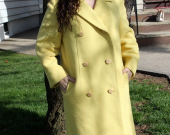 1960s Yellow Peacoat
