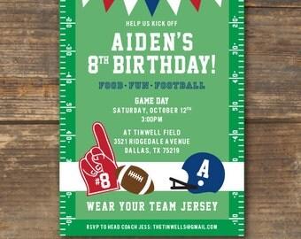 Football Birthday Party Invitation Printable