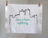 Downton Abbey Highclere Castle hand embroidered illustration
