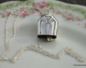 Silverware Bell Pendant FIDELIS 1933 - Silverware Necklace Silverware Jewelry - Choice of Chain or No Chain
