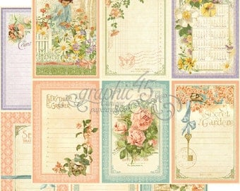 """Graphic 45 """"Secret Garden - May Flowers""""12x12 Double-sided Paper"""