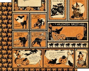 "Graphic 45 ""Happy Haunting - Halloween Greetings""12x12 Double-sided Paper"