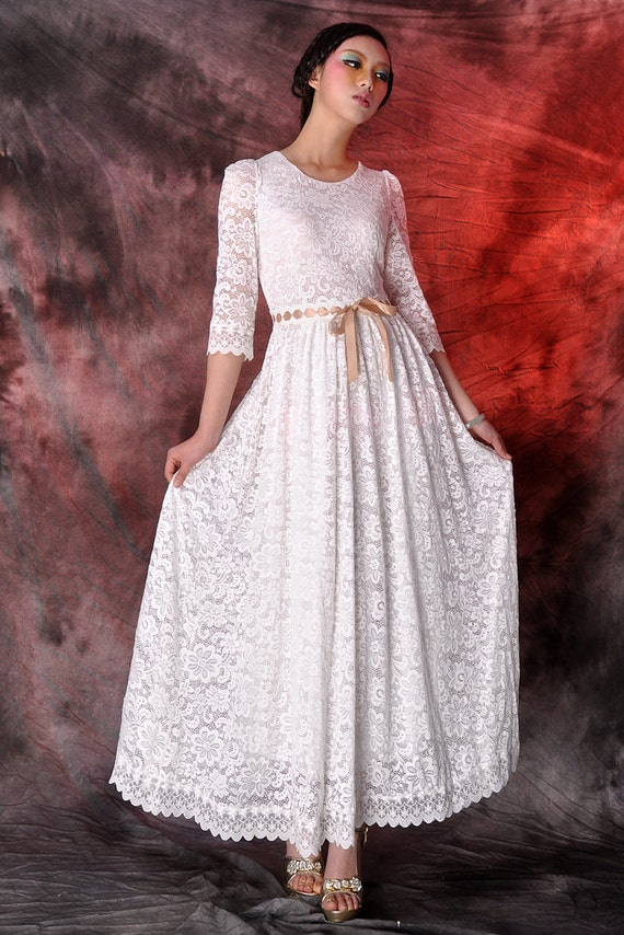 tulle skirt tulle dress white lace maxi dresswedding by dongli