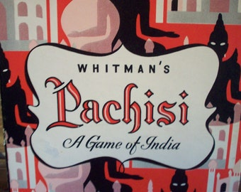 INDIA PACHISI GAME Board Whitmans Mid Century Wall Art Parcheesi