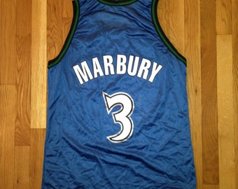 vintage stephon marbury champion jersey timberwolves mens size 44