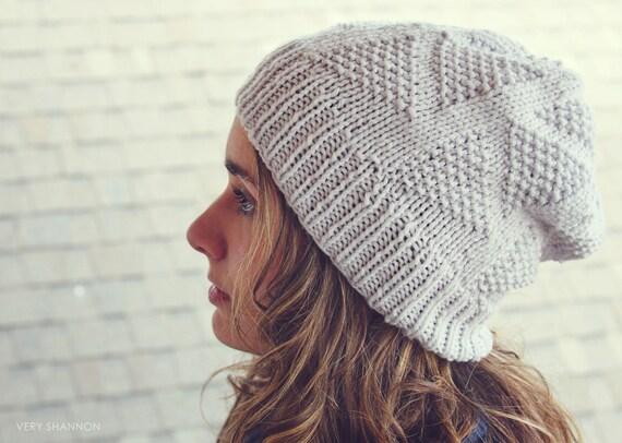 DREIECKE Hat Knitting Pattern Triangles Slouch Textured ...