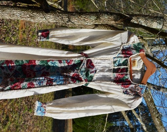 Festival Dress Gunne Sax Dress Boho Dress Hippie Dress Bohemian Dress 70s Prarie Dress Wendy of California Dress