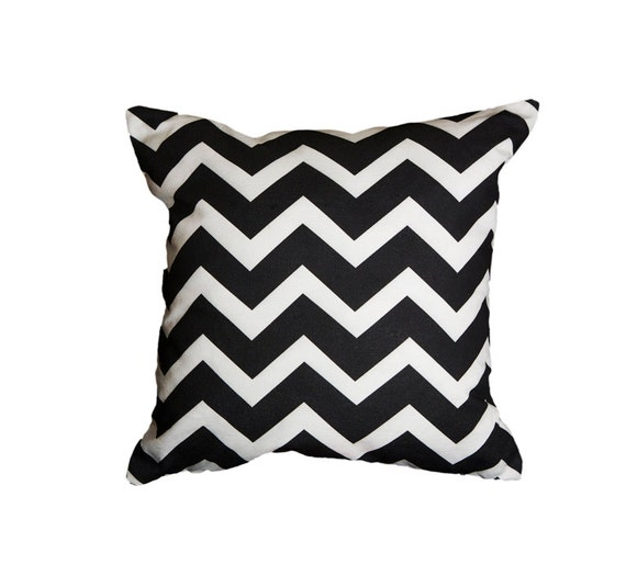 Black Tan Putty Chevron Throw Pillow Cover One 18