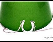 Sterling Silver Horseshoe Pendant - Handmade Jewelry-  Horseshoe Necklace  -  Handmade Silver Horseshoe - Large Pendant Horseshoe