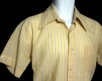 Vintage Gold Towne Striped Shirt Sz.M 1960's