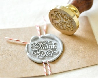 B20 Wax Seal Stamp Message Words Thank You
