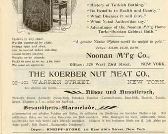 May, 1899 German Health Magazine - Wonderful Adverts - Kneipp - Blatter