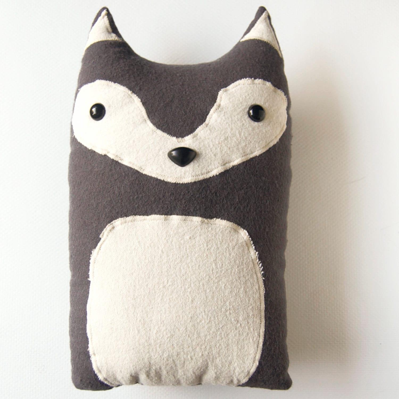 Pillow With Animal : Wolf Woodland Plush Stuffed Animal Pillow Liam