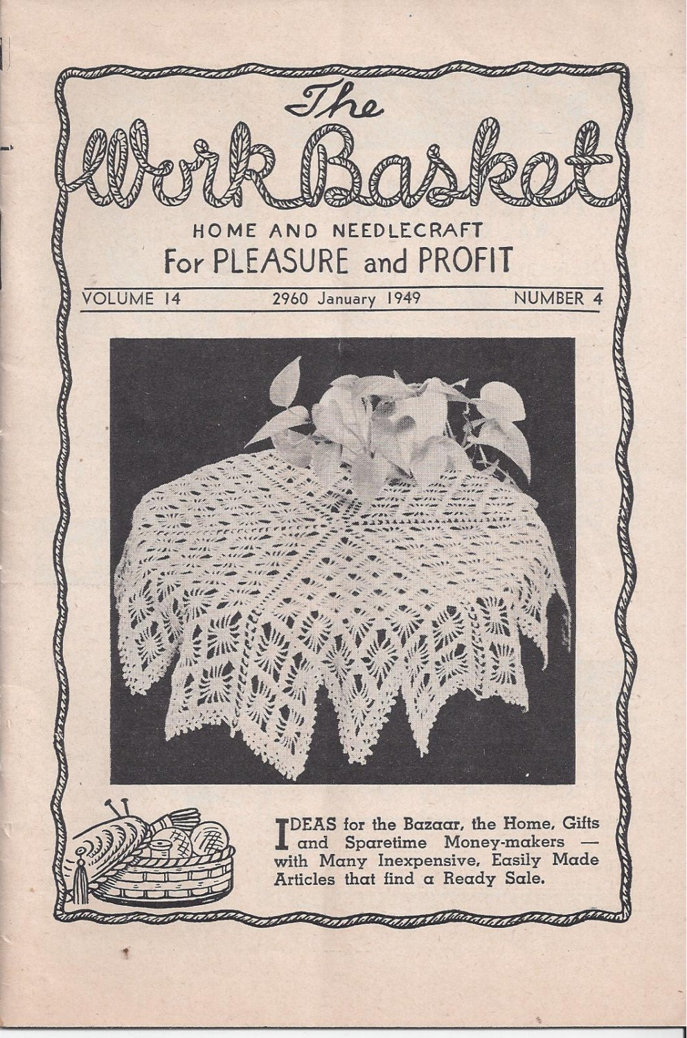 The workbasket home needlecraft book january 1949 featuring sold by victorianwardrobe bankloansurffo Choice Image