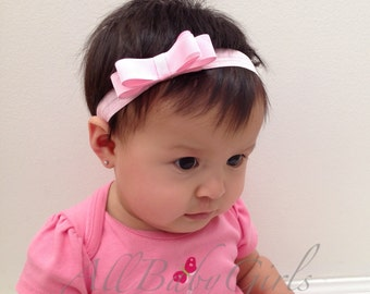 Baby Pink Headband, Pink Bow Headband, Pink Baby Headband, Pink Baby Headbands, Headbands For Babies, Infant Headbands, Handmade Headband