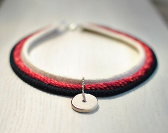 Eco friendly handmade rope necklace.