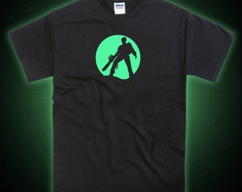 Evil Dead Ash Chainsaw Tribute Glow in the Dark T-shirt