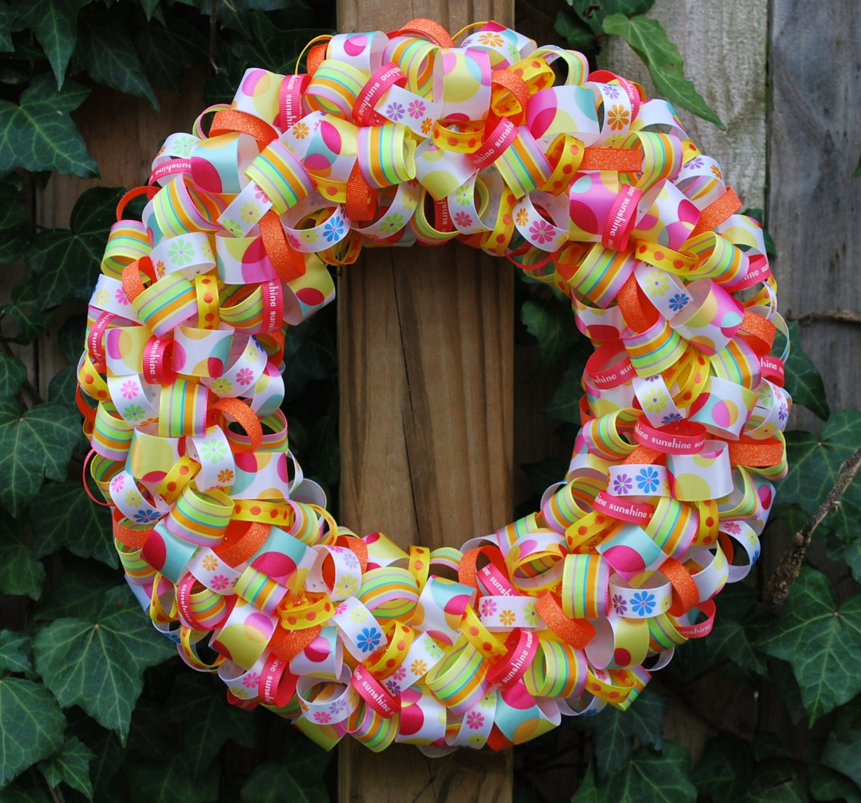 Spring Ribbon Wreath Summer Ribbon Wreath