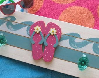Summer Decor Flip Flops Wall Plaque