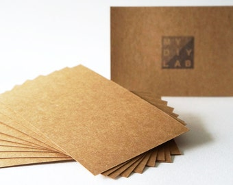 Set of 10 // Kraft Card Stock // 4x6 // Postcard Size // Extra Heavy Weight 350gsm 260lbs