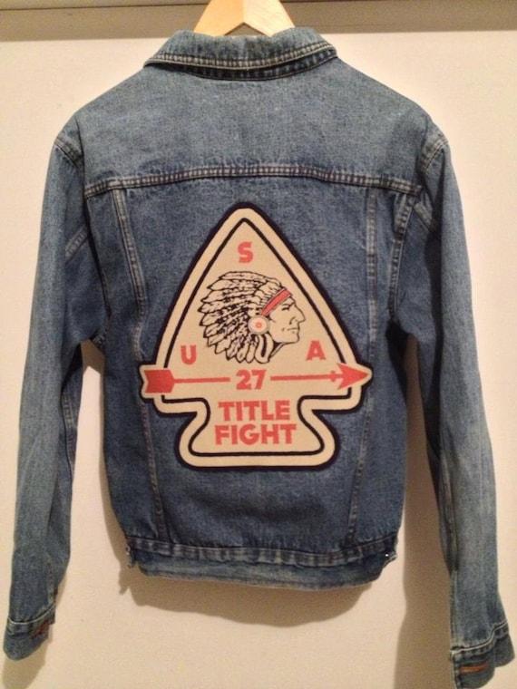 title fight arrow head denim jacket reserved for katlyn