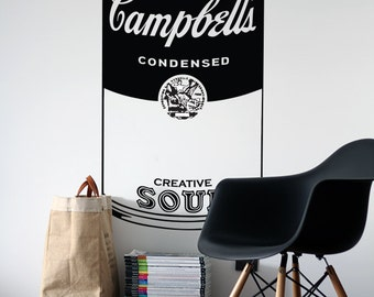Campbell's Soup Vinyl Decal - Andy Warhol Pop Art Can