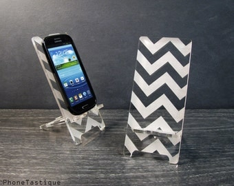 Samsung Galaxy S3 S4 S5 Android Phone Stand Docking Station Chevron Zig Zag Hollywood Regency