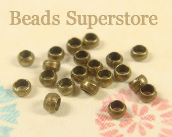 2 mm Antique Brass Crimp Bead - Nickel Free and Lead Free - 200 pcs