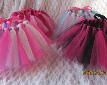 READY to SHIP 18 inch Doll Tutus Choose Your Colors (CAN be Done in Valentine, Easter,Team colors,or choose colors)
