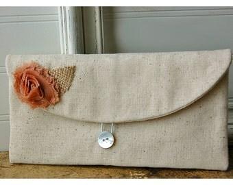 brown, black, pink, blue, red, floral clutch, burlap rustic purse, Spring Wedding Clutch, Bridesmaid Gift, Bridesmaid Clutch, Makeup Bag