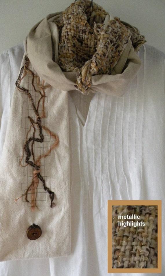 Knitting Wearable Art : Wearable art scarf women s knit crochet by lifesanexpedition