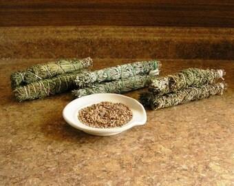 Smudge sticks, choose from, juniper,  sage and juniper, juniper and pine, juniper and pinon, juniper and cedar, granite sand
