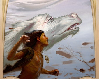 NeverEnding Story - Print of original oil painting illustration