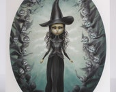 Elphaba and the Flying Monkeys - Limited Edition signed numbered 8x10 Wizard of Oz Wicked Witch Fine Art Print by Mab Graves -unframed