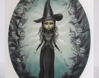 Elphaba and the Flying Monkeys - Limited Edition signed 8x10 Wizard of Oz Wicked Witch Fine Art Print by Mab Graves