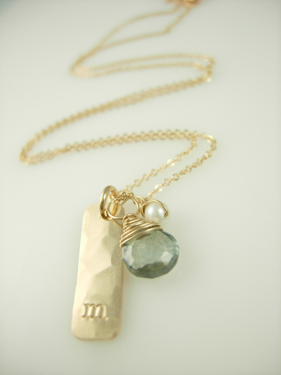 personalized initial necklace personalized gold bar necklace