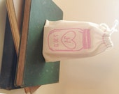 RESERVED // business logo stamp 2.5X3 // Custom stamp. Wedding Favor DIY Decor.