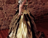 Exquisite Yellow and Black Wedding Dress Victorian Inspired available in every color