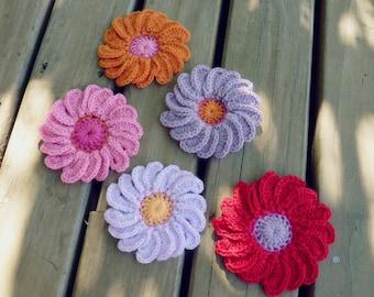 PDF Crochet Pattern Flower 3D Gerbera - Easy beginner - Photo Tutorial Ebook crochet instructions  - Instant DOWNLOAD