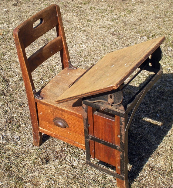 antique child s school desk vintage childrens 87974