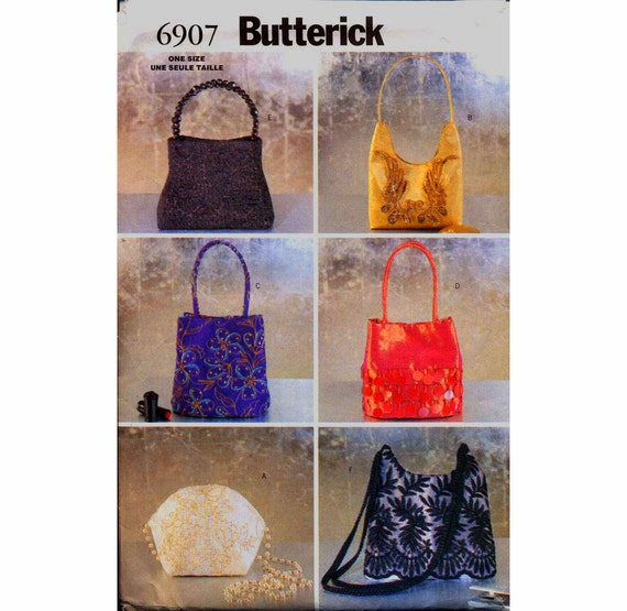 Evening Bags Pattern Butterick 6907 Six Elegant Formal Evening