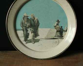 Siltal Italy Enamelware Plate