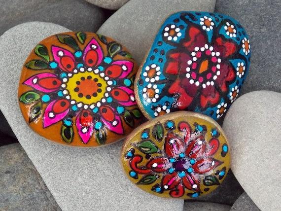 Rock garden set painted rocks set sandi pike foundas - Painting rocks for garden what kind of paint ...