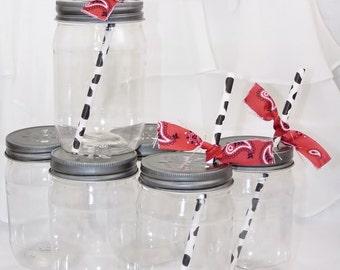 Plastic Mason Jar BPA FREE   25 count , Unbreakable, Trendy, Guest Favorite, Wedding, Outdoor Concert, Birthday, Western, Party Favor, Retro