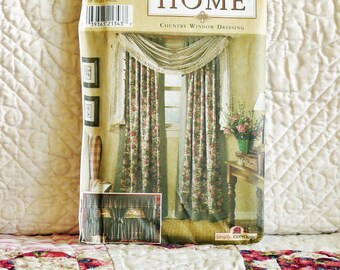 Window Treatments Pattern, Simplicity 8052, Home Decor, Country Window  Dressing, Tab Panel