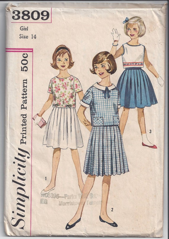 simplicity 3809 pattern for pleated by