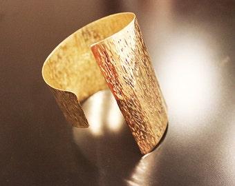 Big Asymmetrical  Metal Cuff Bracelet,brass cuff,inspired of ancient Greece,metalwork cuff, upper armband,arm cuff.wrap bracelet,gold cuff
