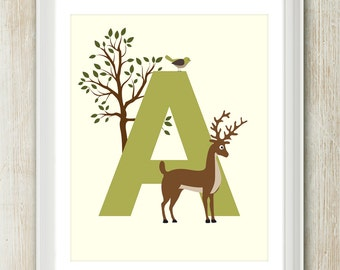 The Magical Woodlands - Letter A - (Choose Your Color)