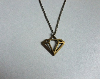 Antique gold diamond in the rough necklace also available in antique silver! tattoo